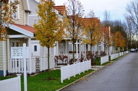 Фото Коттеджный поселок, Бельгия. Материал: Фиброцементный сайдинг Cedral | . Фото № 2055997600