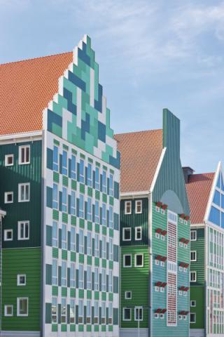 Фото Отель Golden Tulip Inntel в Голландии. Материал: Фиброцементный сайдинг Cedral | WAM architecten, Coenderstraat 3-4, NL-2613 SM Delft, desing: Molenaar & Van Winden. Фото № 224834323