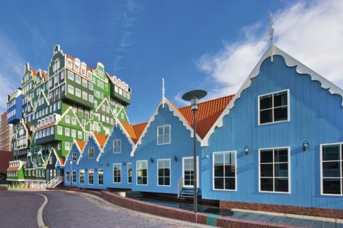 Фото Отель Golden Tulip Inntel в Голландии. Материал: Фиброцементный сайдинг Cedral | WAM architecten, Coenderstraat 3-4, NL-2613 SM Delft, desing: Molenaar & Van Winden. Фото № 939897833