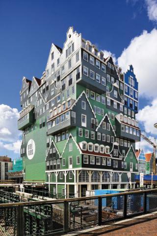 Фото Отель Golden Tulip Inntel в Голландии. Материал: Фиброцементный сайдинг Cedral | WAM architecten, Coenderstraat 3-4, NL-2613 SM Delft, desing: Molenaar & Van Winden. Фото № 154137415