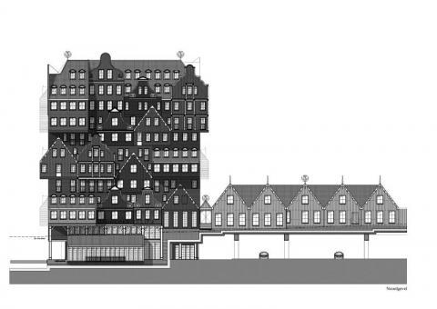 Фото Отель Golden Tulip Inntel в Голландии. Материал: Фиброцементный сайдинг Cedral | WAM architecten, Coenderstraat 3-4, NL-2613 SM Delft, desing: Molenaar & Van Winden. Фото № 615100156