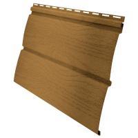 Виниловый сайдинг Grand Line Блок-хаус D4,80 Карельский брус - цвет карамельный премиум