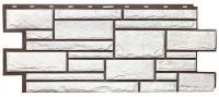 Фасадная панель T-SIDING «Дикий камень» - цвет белый
