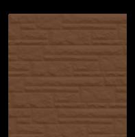 Цокольный сайдинг Dolomit - цвет тёмно-коричневый