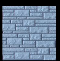 Цокольный сайдинг Dolomit «Прокрашенный» - цвет серо-голубой