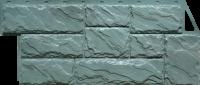 Фасадные панели FineBer «Камень крупный» - цвет Серо-зелёный