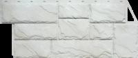 Фасадные панели FineBer «Камень крупный» - цвет Мелованный белый
