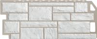 Фасадные панели FineBer - «Камень» - цвет Мелованный белый
