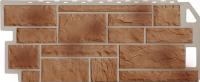 Фасадные панели FineBer - «Камень» - цвет Natur Терракотовый