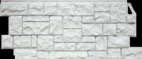 Фасадные панели FineBer «Камень дикий» - цвет Мелованный белый