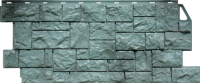 Фасадные панели FineBer «Камень дикий» - цвет Серо-зелёный